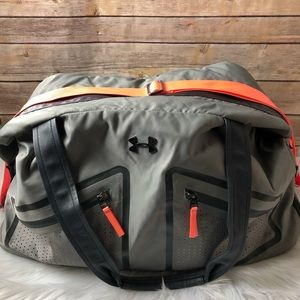 Under Armour Grey and Coral Gym/Duffel Bag